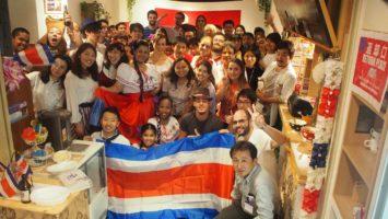 Costa Rica独立記念パーティー(サクラカフェにて)